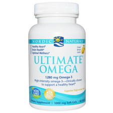 Nordic Naturals Ultimate Omega - Natural Lemon Flavour 60 soft gels | 768990717901