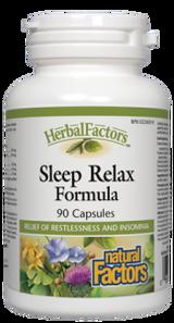 Natural Factors HerbalFactors Sleep Relax Formula Capsules   068958046556