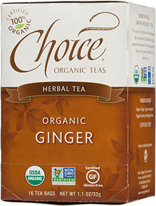 Choice Organic Teas Ginger Herbal Tea 16 Tea Bags | 047445919931