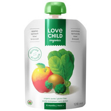 Love Child Organics Baby Food Pouch with Quinoa, Apples, Spinach, Kiwi and Broccoli for 6 Months and Over | 0858860001121