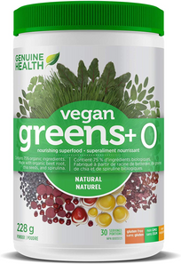 Genuine Health Vegan Greens+ O Natural 228g | 624777006203