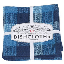 Now Designs Check Dishcloths Set of 3 Indigo | 064180231838