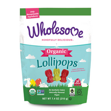 Wholesome Sweeteners Organic Bunny Lollipops | 012511531362