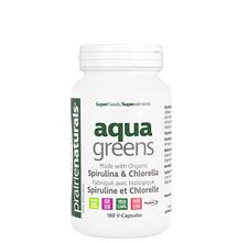 Prairie Naturals Aqua Greens Spirulina & Chlorella Capsules 180 Veg Cap   067953004806