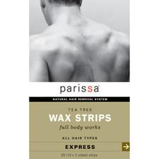 Parissa Mens Tea Tree Wax Strips Full Body Works   0066427650006