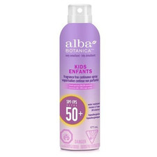 Alba Botanica Very Emollient Sunscreen Kids Continuous Spray SPF 50 Unscented 177mL | 724742804800