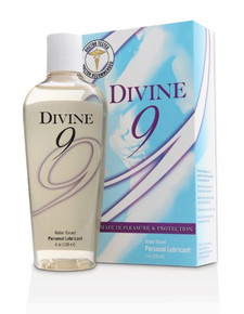 Divine 9 Water Based Personal Lubricant with Carrageenan