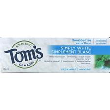 Tom's of Maine Simply White Fluoride-Free Plus Toothpaste | 077326159408