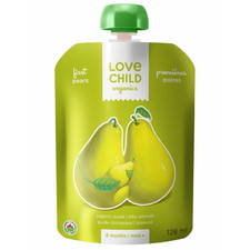 Love Child Organics First Tastes Baby Food Pouch Pears for 6 Months and Over | 0858860001084