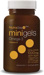 NutraSea +D Minigels Omega-3 + Vitamin D (EPA+DHA 1000mg) 120 mini softgels | 880860005052