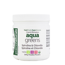 Prairie Naturals Aqua Greens Spirulina & Chlorella Powder 200 Grams | 067953004813
