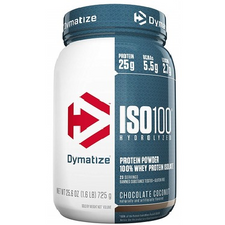 Dymatize Nutrition ISO 100 Hydrolyzed Whey Protein Isolate Chocolate Coconut