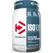 Dymatize Nutrition ISO 100 Hydrolyzed Whey Protein Isolate Cookies and Cream