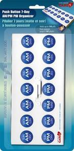 Card Health Cares Pill Organizer Push Button 7 Day AM/PM VitaMedic | 872798000780