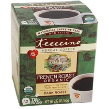 Teeccino Organic Caffeine Free French Roast Herbal Tea 10 Tea Bags | 795239401109