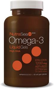 NutraSea DHA Omega-3 LiquidGels High DHA (EPA+DHA 1200mg) 60 soft gels | 880860005021