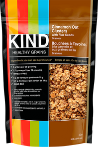 Kind Snacks Healthy Grains Cinnamon Oat Clusters with Flax Seeds Bag 312g   602652183119