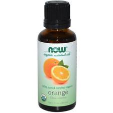 Now Organic Essential Oils 100% Pure Organic Orange Oil 30 mL | 733739874405