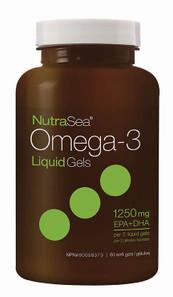 NutraSea Omega-3 LiquidGels (EPA+DHA 1250mg) 60 Softgels | 880860005076