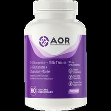 AOR D-Glucarate + Milk Thistle 60 Vegi Caps | 624917042726