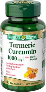 Nature's Bounty Turmeric Curcumin 1000 mg plus Black Pepper | 029537599498