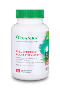Organika Full Spectrum Plant Enzymes 500mg 60 VCAPS   620365024109
