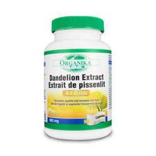 Organika Dandelion Root 4:1 Extract 400 Mg 90 capsules | SKU : 1976-2357 | 620365014278