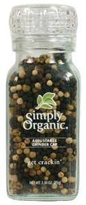 Simply Organic Peppercorn Blend Grinder   089836192196
