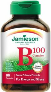 Jamieson B Complex 100 Mg Timed Release 60 Caplets | 064642021700