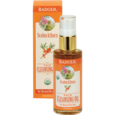 Badger Seabuckthorn Face Cleansing Oil For Normal To Dry Skin   634084270075