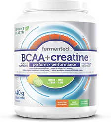 Genuine Health Fermented BCAA+ Creatine Powder Lemon-Lime 440g | 624777007002