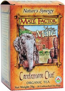 Mate Factor Yerba Mate Organic Cardamom Chai 20 Tea Bags |