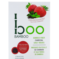 Boo Bamboo Charcoal Sheet Mask Hydrating | Single 776629100918 | 3 Pack 776629100765