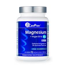 CanPrev Magnesium + Vegan D3 & K2 for Bone 90 Veg Caps | 886646502036
