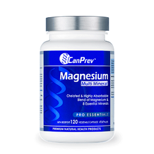 CanPrev Magnesium Multi-Mineral 120 Veg Caps   886646502012