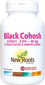 New Roots Herbal Black Cohosh 40mg 60 Veg Capsules | 628747107778