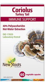 New Roots Herbal Coriolus Turkey Tail 60 Veg Capsules |628747118644