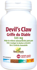 New Roots Herbal Devil's Claw 525mg 100 Veg Capsules|628747108348