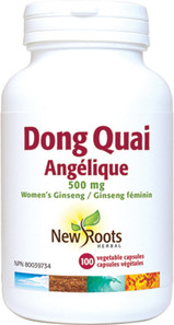 New Roots Herbal Dong Quai 500mg 100 Veg Capsules|628747103886