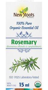 New Roots Herbal Rosemary 100% Pure Organic Essential Oil 15mL|628747221443