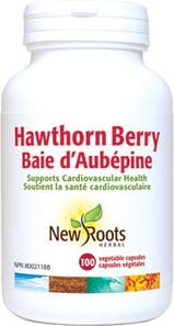New Roots Herbal Hawthorn Berry 100 Veg Capsules|628747108287