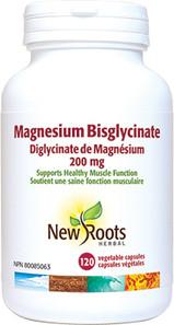 New Roots Herbal Magnesium Bisglycinate 200mg   628747123082