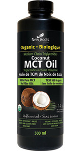New Roots Herbal Organic Coconut MCT Oil 500mL | 628747224123