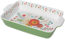 Now Designs Goldenbloom Decal Baking Dish   064180276341