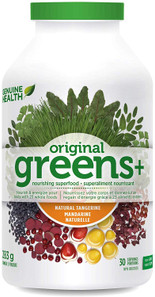 Genuine Health Greens+ Original Powder Natural Tangerine 238g | 624777000713