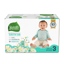 Seventh Generation Free & Clear Baby Diapers - Size Three 93 count | 732913441228