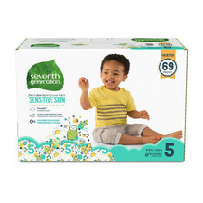 Seventh Generation Free & Clear Baby Diapers - Size Five 69 count | 732913441242