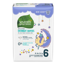 Seventh Generation Overnight Diapers - Stage 6 (35+ lbs.) 17 count   732913440702