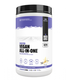 North Coast Naturals Boosted Vegan All-In-One Protein 840 g Vanilla | 627933101514 | 627933101552 | 627933101583