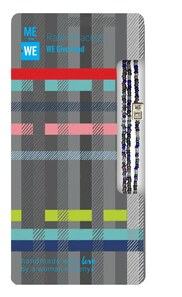 Me to We Holiday Rafiki Bracelet Plaid Collection- We Give Food  |  628499087083